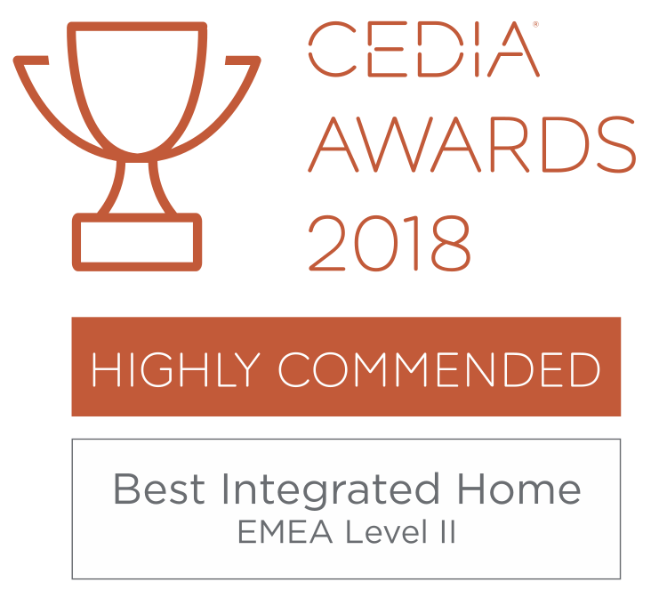 CEDIA Awards 2018  Highly Commended - Best Integrated Home EMEA Level 2