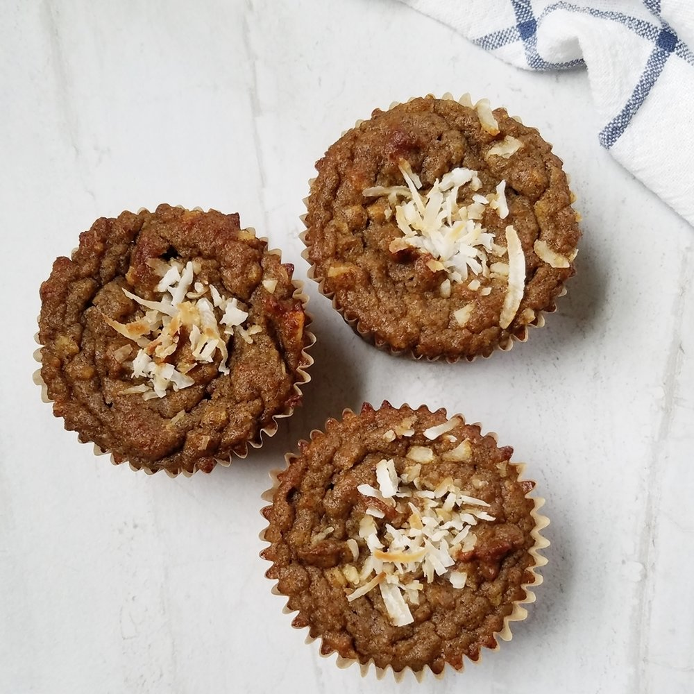 grain free coconut flour pumpkin spice zucchini banana muffins