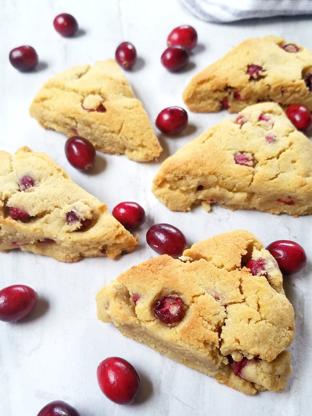 Gluten-Free Grain-Free Cranberry Orange Scones