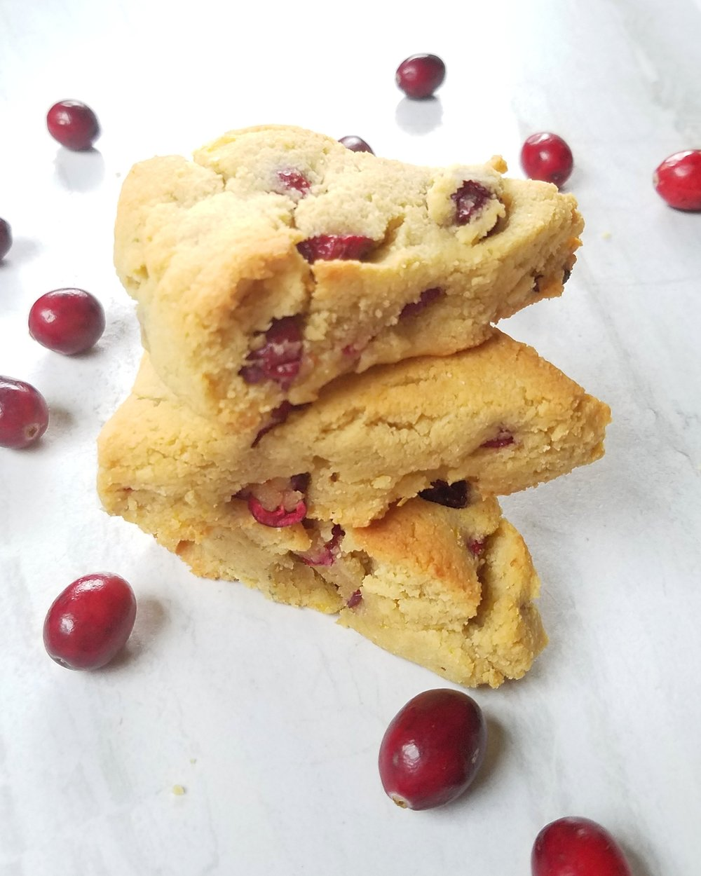 Grain-Free Cranberry Orange Scones