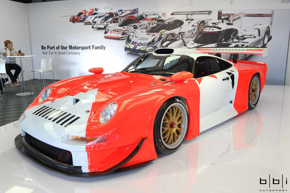 Shown here in its restored Marlboro paint-scheme, chassis 993-GT1-101 campaigned by JB Racing was the first Porsche 993 GT1 to be delivered to a customer.
