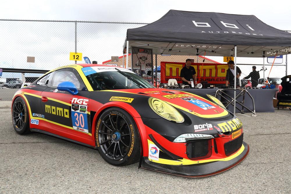 MOMO NGT Motorsport GTD Porsche 911 GT America Race Car