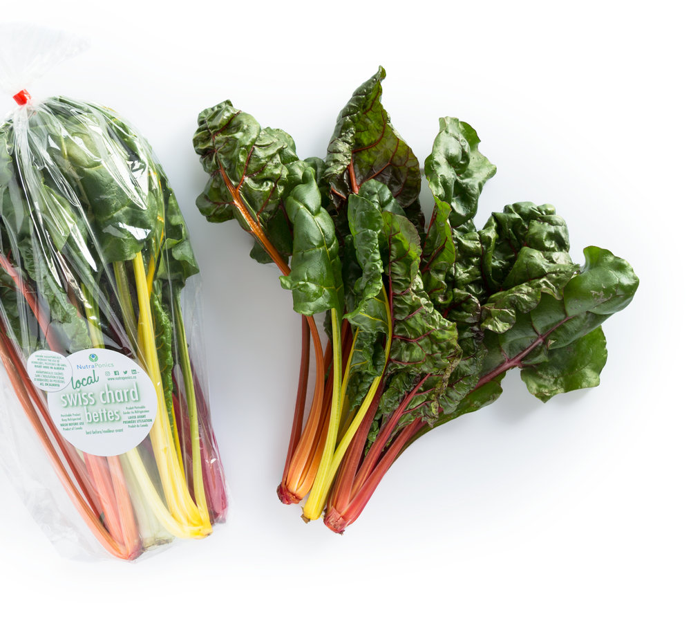 swiss chard - Don't be deceived by the light flavour of our Swiss chard, chard is one of the most nutrient packed vegetables around with vitamin A and K levels off the charts! There's no need to separate the ribs from the leaves of our chard as they are so tender you can cook them all at once!