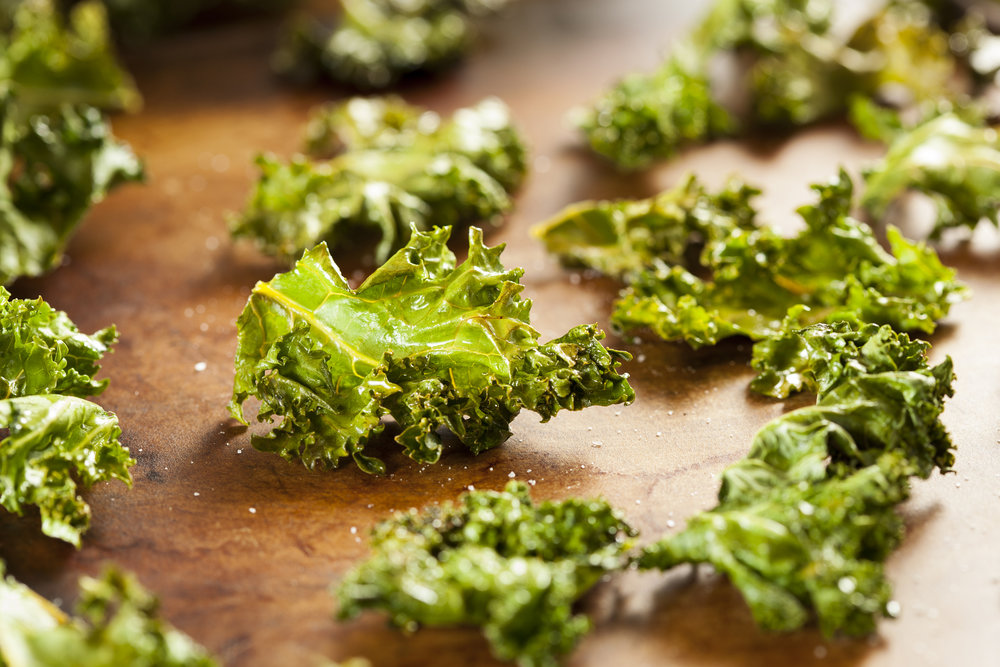 kale chips - with NutraPonics hybrid kale