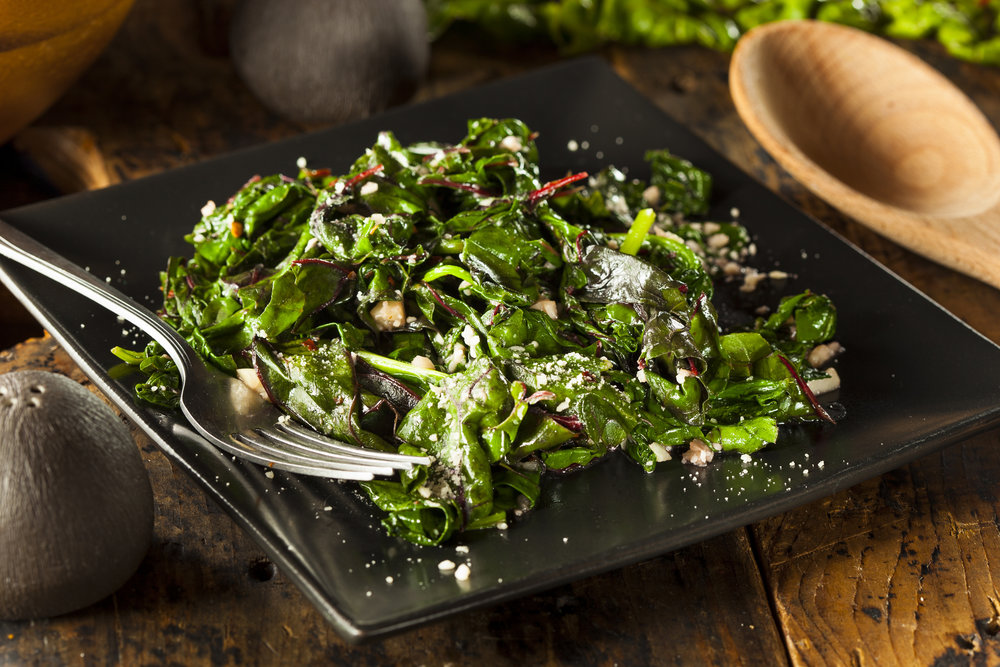 Sauteed swiss chard - with NutraPonics Swiss chard