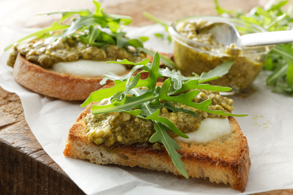 Peppery Arugula pesto - with NutraPonics arugula