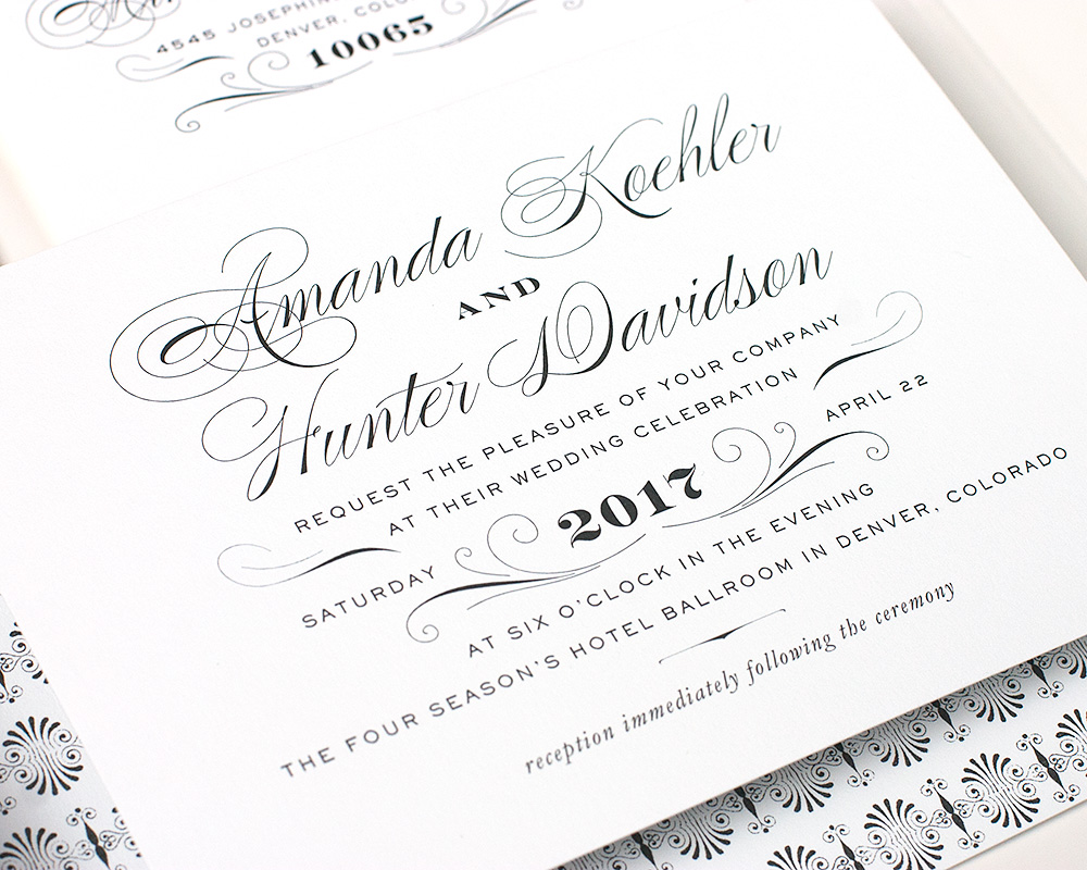 Derriey Wedding Invitation