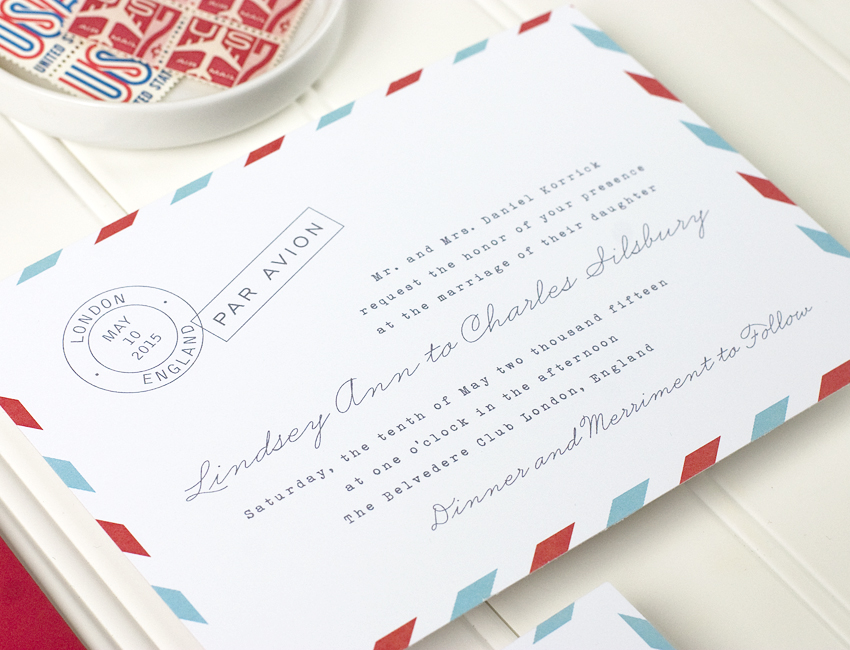 Par Avion Wedding Invitation