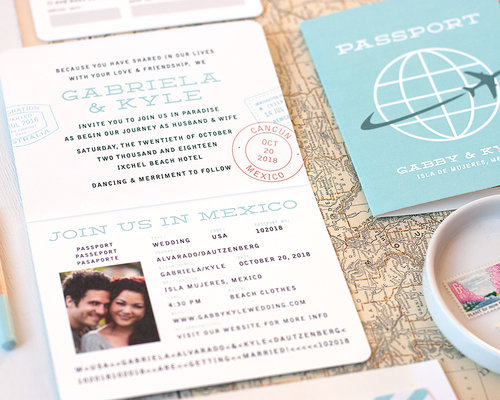 Passport Wedding Invitation Sample  Paper  Parcel Wedding Invitations
