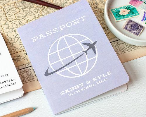 multi page passport wedding invitation sample - Passport Wedding Invitations