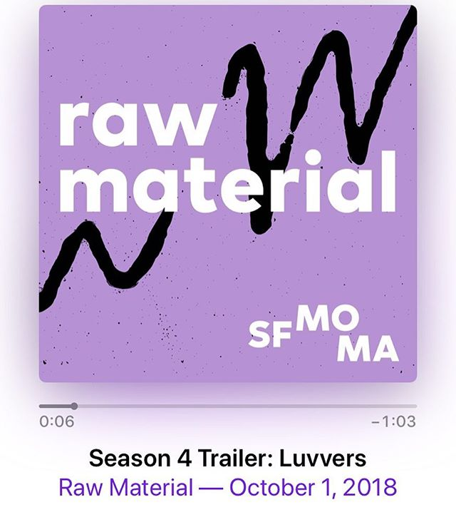 What the hell have I been doing since I haven't been putting out new Mènage episodes or posting to Insta? THIS! A six part podcast series for SFMOMA about two of the best three letter words in the English language: ART and SEX. Link to the trailer is in bio. Follow @rawmaterialpodcast and subscribe so you can hear the first episode when it drops October 15th.