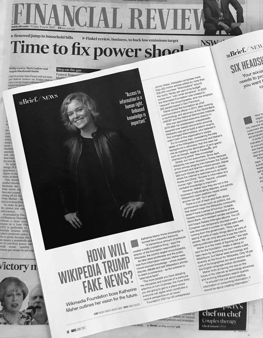 Melbourne Knowledge Week 2017 - Public relations for the program and keynote speakers of MKW2017, including Katherine Maher Executive Director Wikimedia Foundation, leading to media coverage in The Age, The Australian, AFR Boss Magazine, ABC News Breakfast and more.