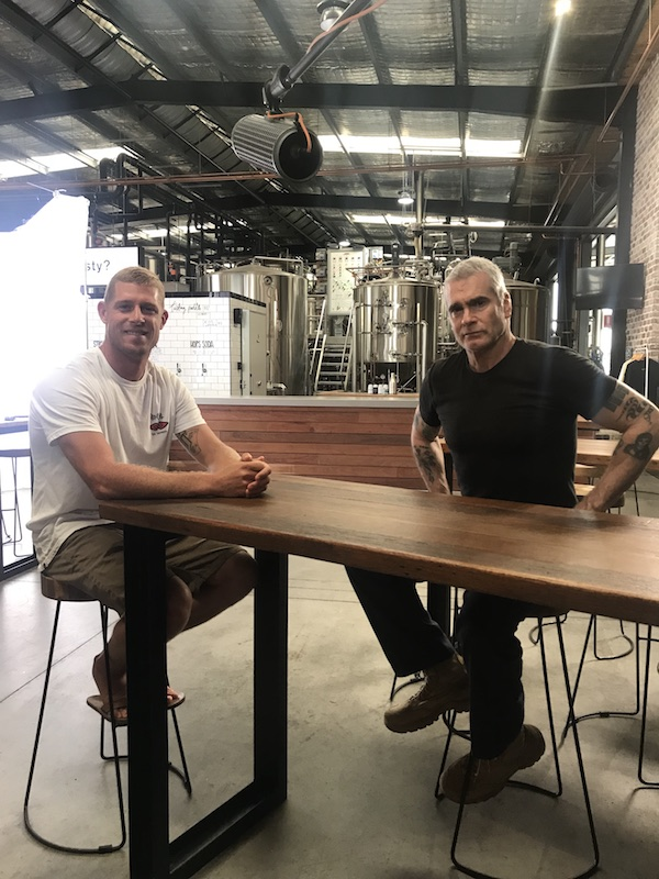 Mick Fanning and Henry Rollins recording for Mercedes-Benz Vans presents 'Tough Conversations'