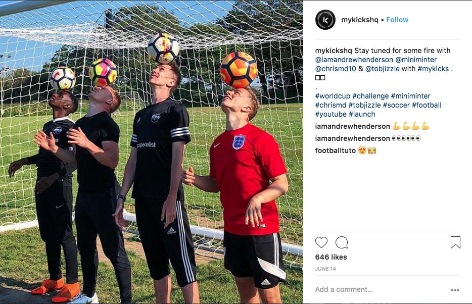 myKicks Instagram teaser content featuring big name influencers. Image: @mykickshq
