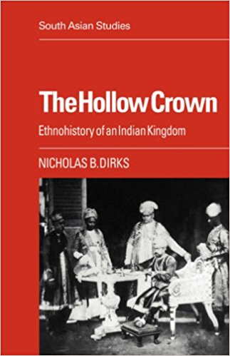 "The Hollow Crown: Ethnohistory of an Indian Kingdom - A pioneering piece of ethnohistory, The Hollow Crown uses a variety of interdisciplinary means to reconstruct the sociocultural history of a warrior polity in south India between the fourteenth and the twentieth centuries. In reconstructing the history of the polity that eventually became the colonial princely state of Pudukkottai, Dirks therefore raises a series of issues concerning the methodologies of history and anthropology, the character of Tamil kingship and social organization, the relationship between politics and ritual, the impact of colonialism and 'modernization', and the dynamics of the whole last millennium of south Indian history.____""Now and then a work of scholarship appears which forces one to take a hard look at the way things are perceived in our discipline.  Such a book might break new ground, taking us into hitherto uncharted regions of Indian society; or it might with penetrating insights, reopen stale debates about the 'big' issues of structure and process; or it might, yet again, challenge existing modes of enquiry.  Rarely, however, does one come across a book which does all three.  Nicholas Dirks' The Hollow Crown belongs in that exceptional category.""—Ian Copland, Journal South Asia"
