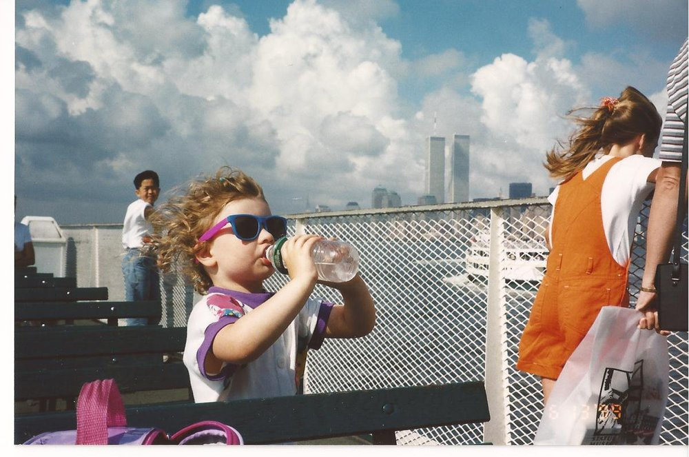 This photo of me on the ferry on my 3rd or 4th birthday gets me every time - the towers are almost blinding now.