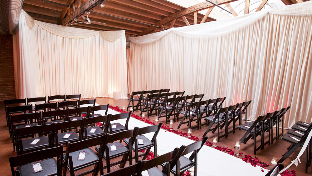 Small Ceremony Draping