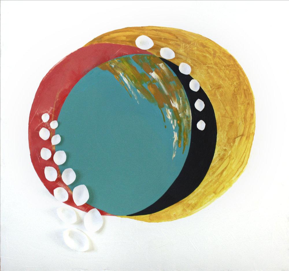 Primary Color III   18x18, Acrylic On Panel