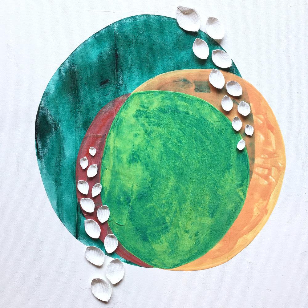 Grow   12x12, Acrylic on Canvas