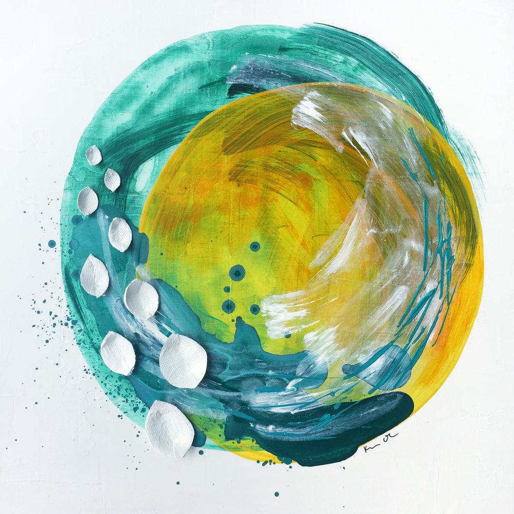 For Shari 1   12x12, Acrylic on Canvas