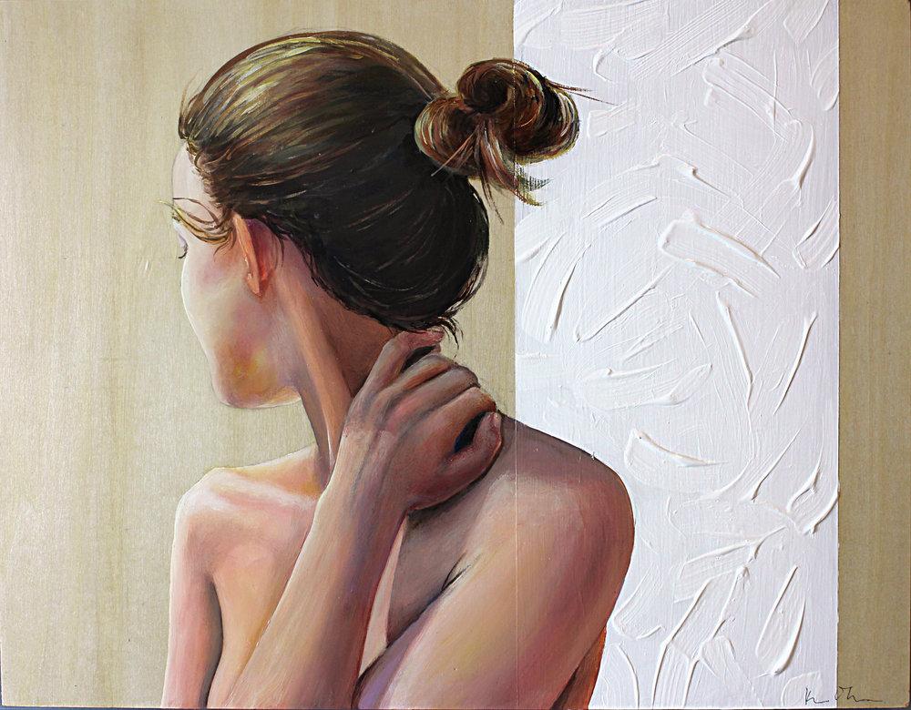 Janelle Engaged   11x14, Acrylic on Cradled Wood Panel