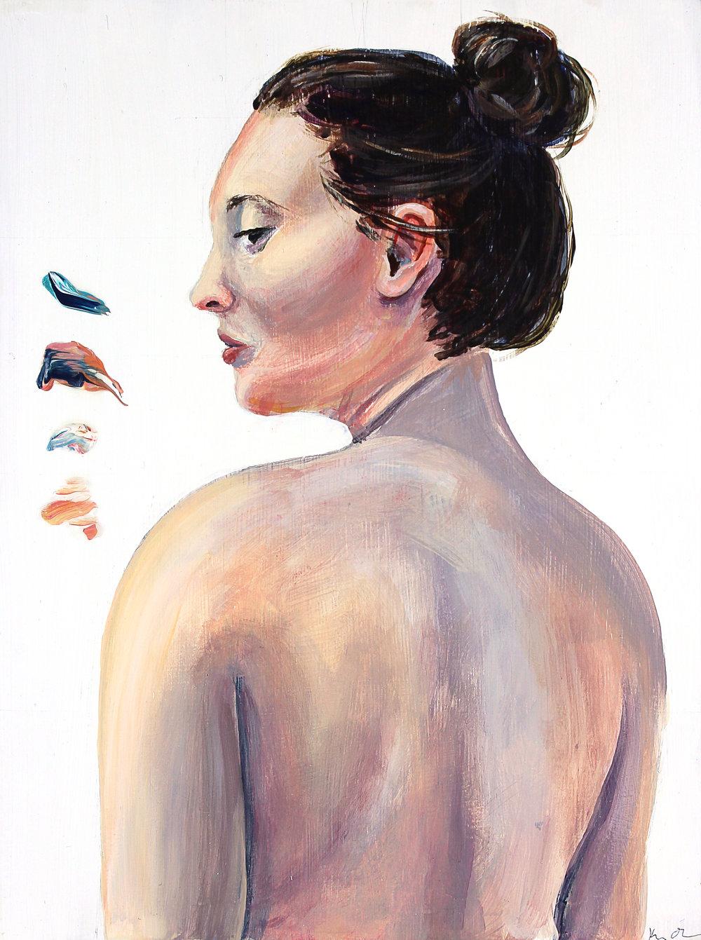 Emily Amused   9x12, Acrylic on Cradled Wood Panel