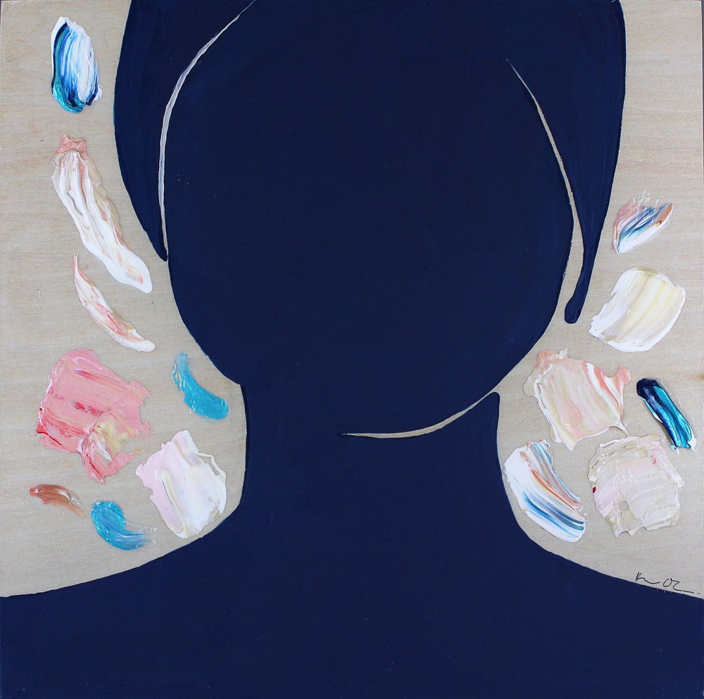 Royal Blue   8x8, Acrylic on Cradled Wood Panel