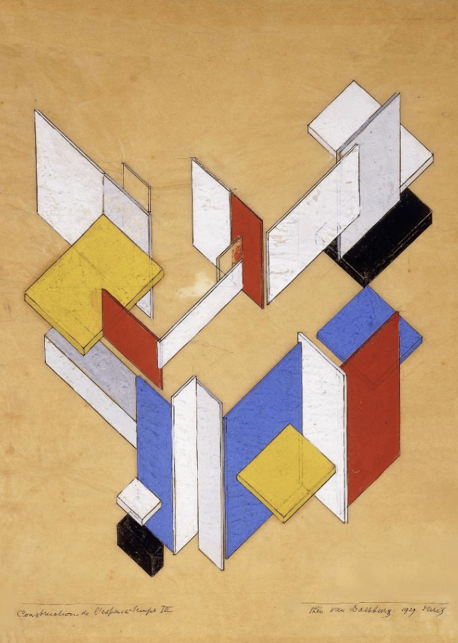 """Theo van Doesburg, """"Construction of Space Time"""""""