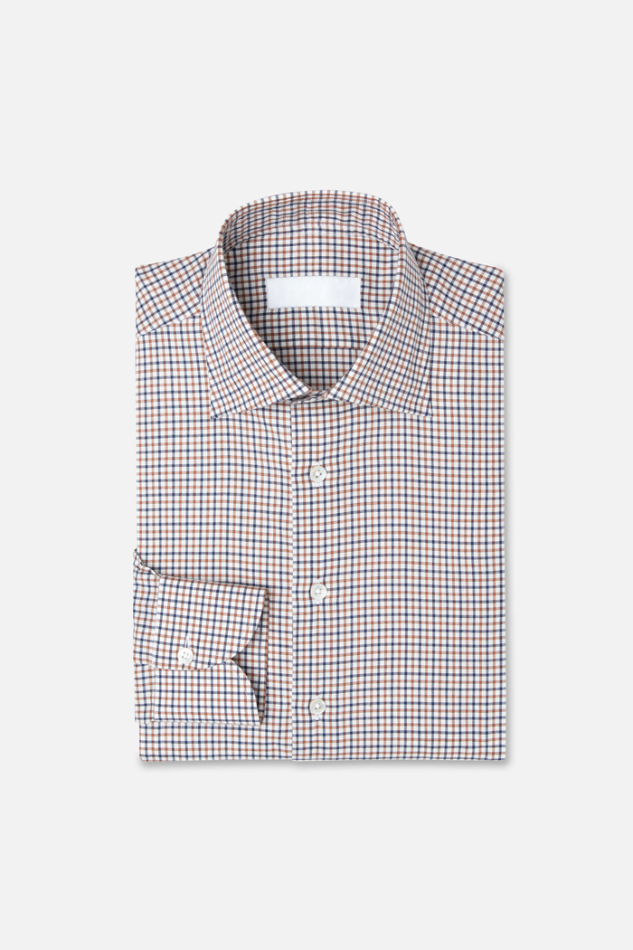 The Justin - Bespoke shirt made to order. The shirt is made with the finest fabrics and uses the highest quality stitching techniques.