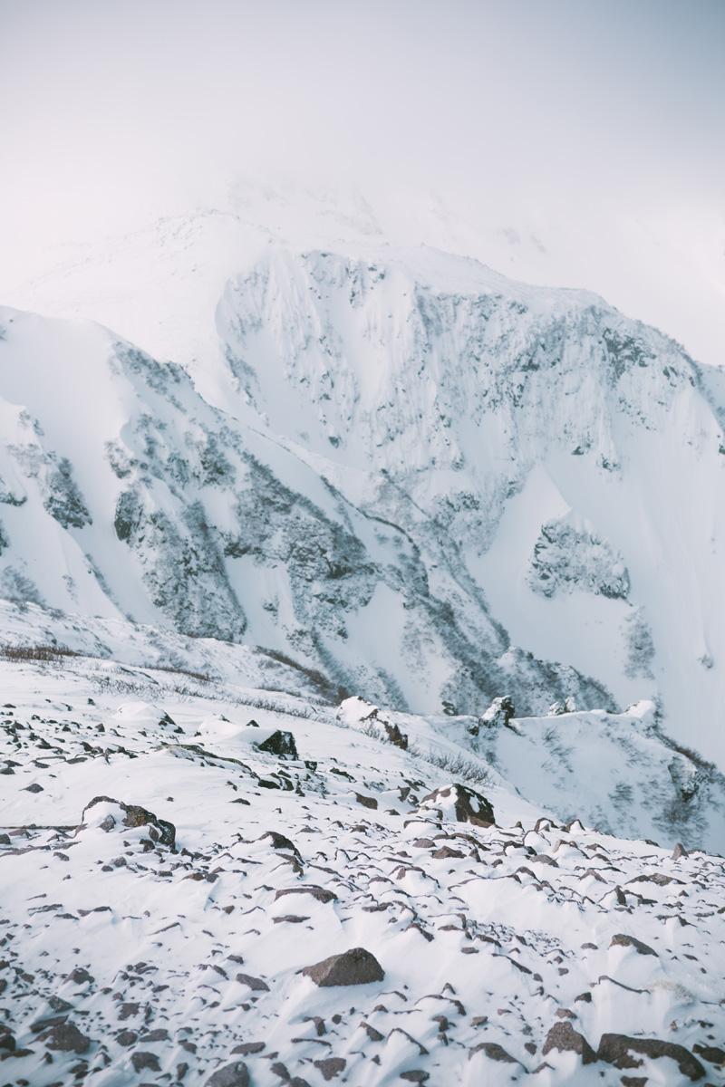 chutes covered in snow from mount kurodake.jpg