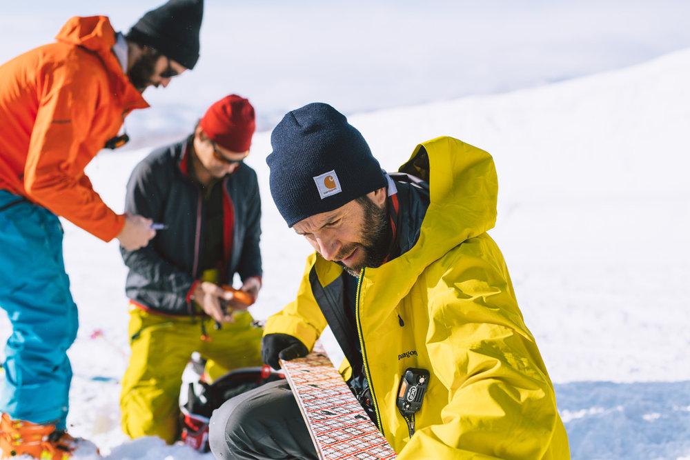 Eddie Akkaway putting skins on splitboard.jpg