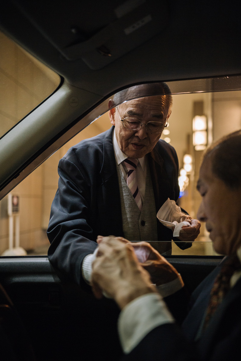 taxi cab drivers talking japan sapporo hokkaido.jpg