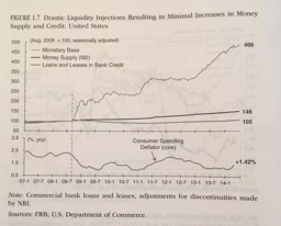 (366% increase in monetary base has resulted in a 5% increase in credit extension, and 46% increase in M2 )