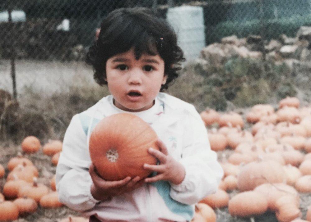 Arielle, and a pumpkin