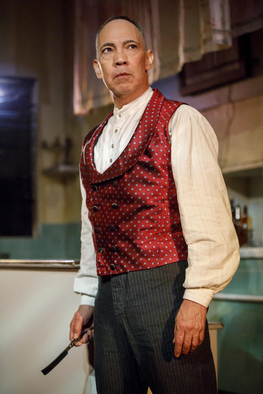 Thom Sesma as Sweeney Todd. PC: Joan Marcus