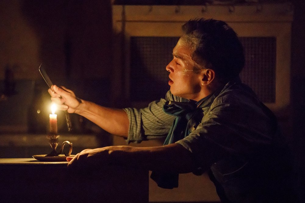 Zachary Noah Piser as Tobias. PC: Joan Marcus