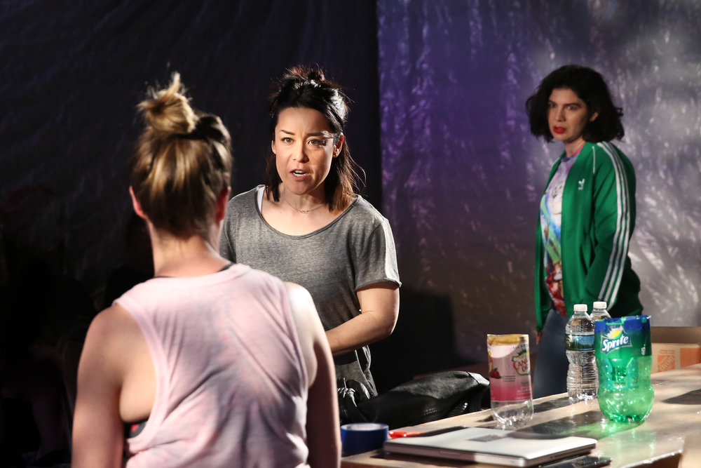 Trigger  (L-R: Polly Lee, Anna Ishida, and Christina Pumariega. Photo Credit: Mireya Acierto)