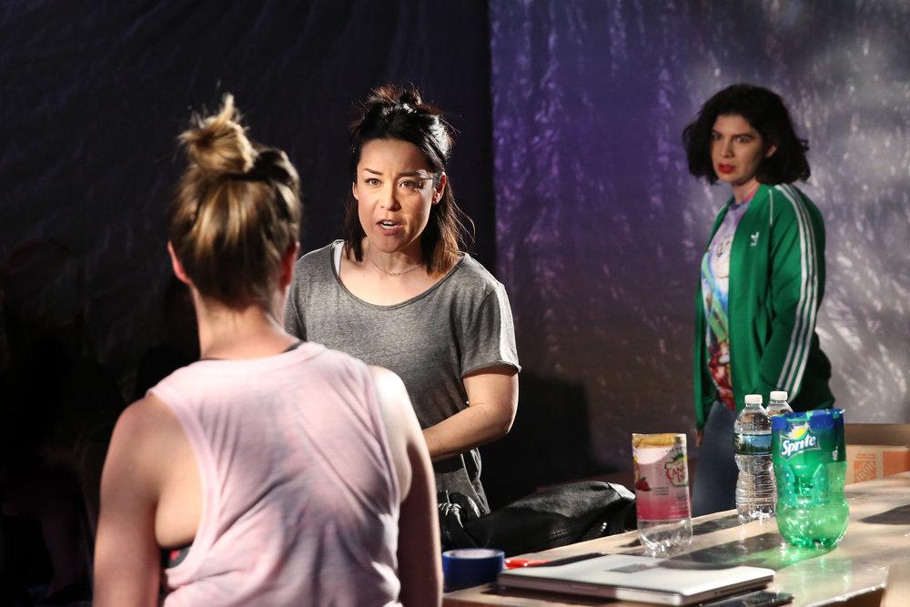 Trigger (L-R: Polly Lee, Anna Ishida, and Christina Pumariega. Photo Credit:Mireya Acierto)