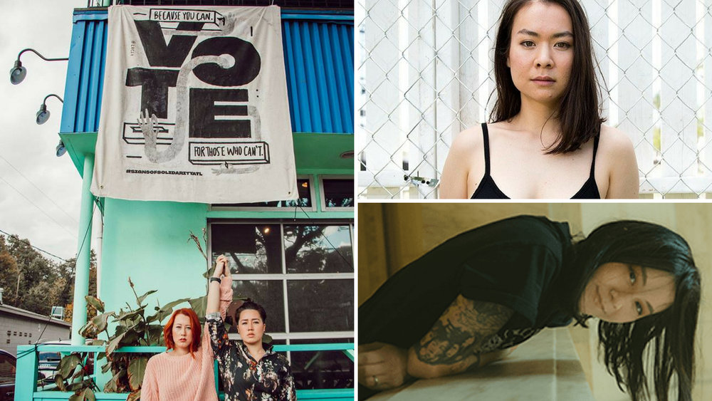 Left (Chasing Lovely), Top Right (Mitski), Bottom Right (Japanese Breakfast)