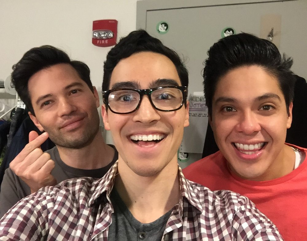 Hapas of Be More Chill (L-R): Jason Tam, Troy Iwata, and George Salazar