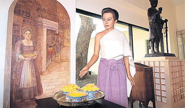 The wax sculpture of Marie Guyomar de Pinha
