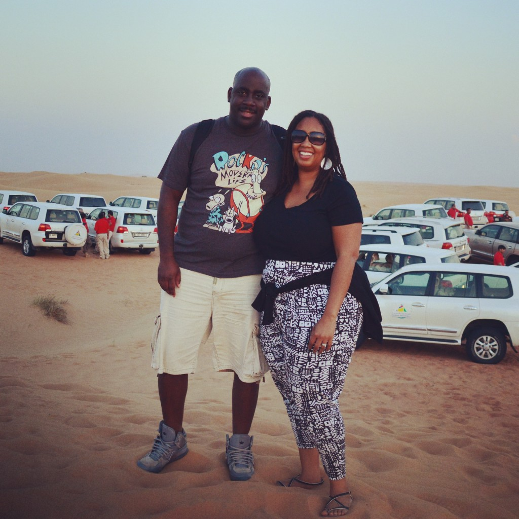 LM and I on the desert safari!