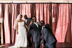 Selfie moment with the groomsmen!