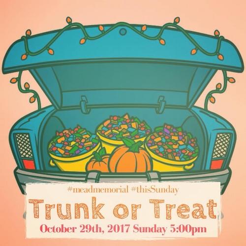 Trunk or Treat @ Mead Memorial United Methodist Church - Date: Sun Oct 29Time: 5pm - 7pmAddress: 13317 Wards Rd. Lynchburg, VA 24501
