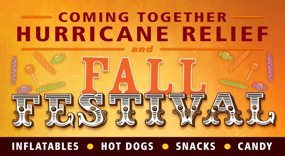 Hurricane Relief & Fall Festival - Date: Tues Oct 31Time: 5pm - 8pmAddress: Wyndhurst Gazebo in the 400 Block | 524 Cornerstone St. | 405 Capital Ln. | 299 Bumgarner Dr.