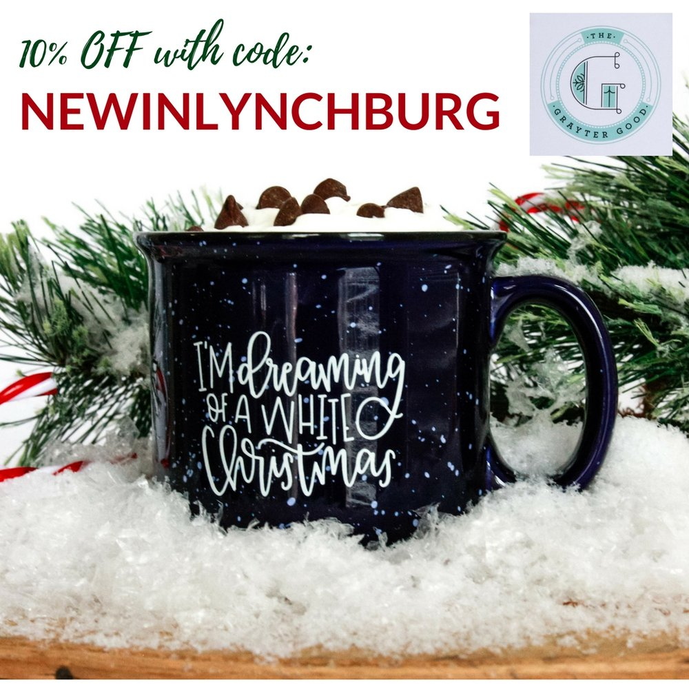 The Grayter Good is offering 10% OFF all orders from now until 12/15 when you use the code NEWINLYNCHBURG.
