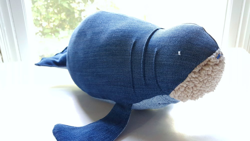 Milk the Manatee by Bertie Blue - Milk the Manatee makes a great gift for anyone that needs a cuddly friend. Bertie Blue has a selection of sea creatures that are all handmade from repurposed materials. They also take custom orders and can make a new friend out of material that is special to you.Price: $42