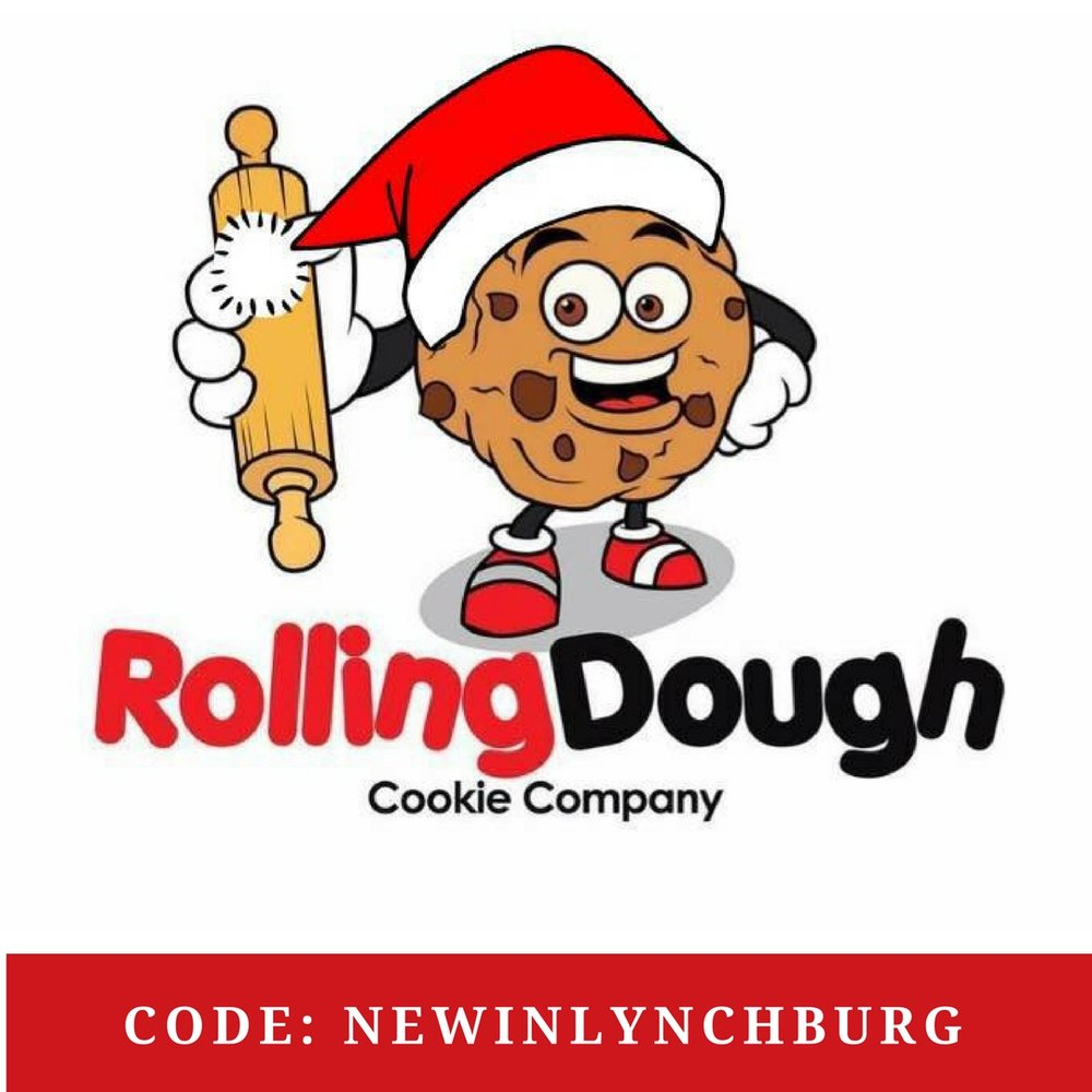 Rolling Dough Cookie Company is offering a free single scoop of edible cookie dough with purchase of 6 cookies when you use the code NEWINLYNCHBURG.