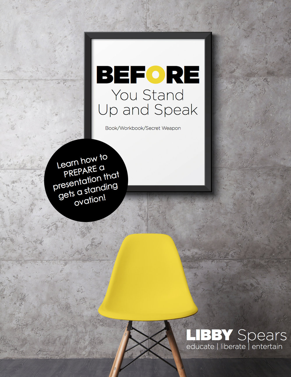 Before You Stand Up and Speak Book Cover Bravo cc Libby Spears