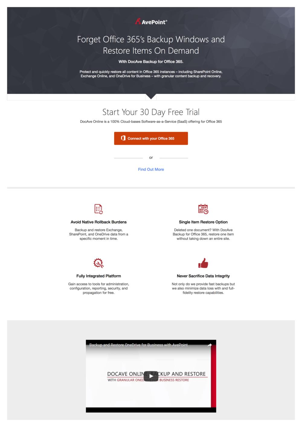 Landing Page - Free Trial